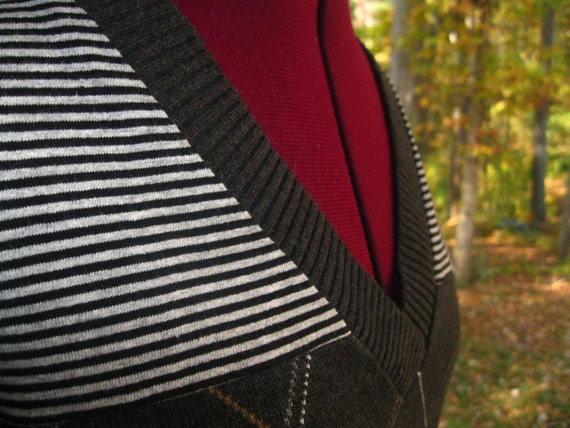 """SALE  Upcycled/Reconstructed handmade sweater """"Dreams"""" one-of-a-kind"""