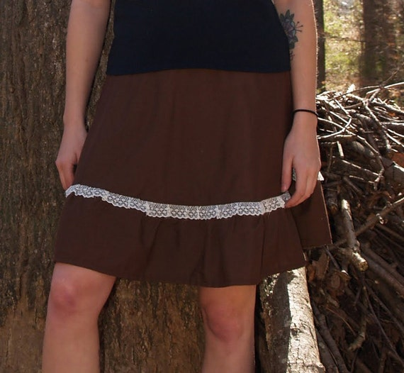 "SALE Handmade Linen and Lace Wrap Skirt ""Minturn"" one-of-a-kind"