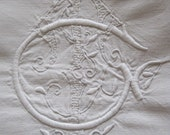 Reserved For JP.Fabulous Antique French Superb Quality Large Metis Linen Sheet With CT Monogram