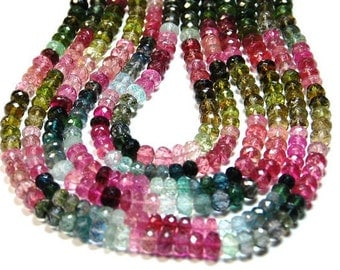 "15"" TOURMALiNE faceted beads - these really are the best"
