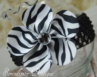 Zebra Print Petal Flower