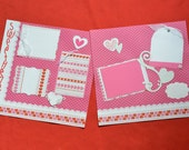 SALE Love scrapbook album premade pages 12 by 12