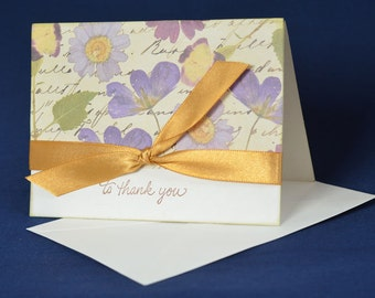 Flowers Greeting Card, Thank You