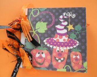Halloween scrapbook premade album made with paper bags