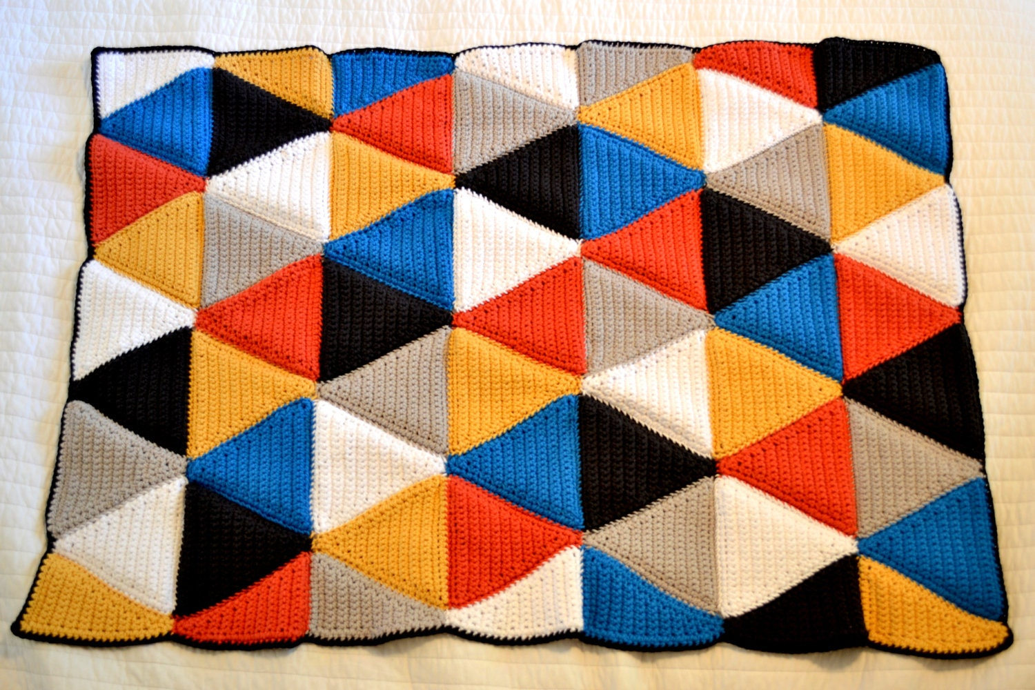 Knitted Triangle Pattern Baby Blanket : Help--a million triangles need to become a blanket. : knitting