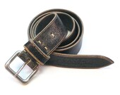 Authentic worn-out leather belt