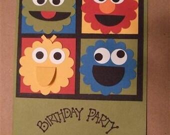 8 Sesame Street Birthday Invitations