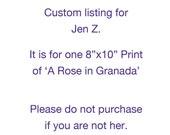 CUSTOM Listing for Jen Z