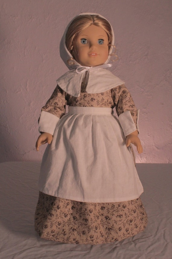Traditional pilgrim 4 peice dress for 18in american girl dolls