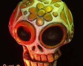 Hand Painted Sugar Skull Ornament by Tom Taggart