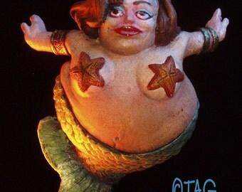 Hand Painted Mermaid Ornament