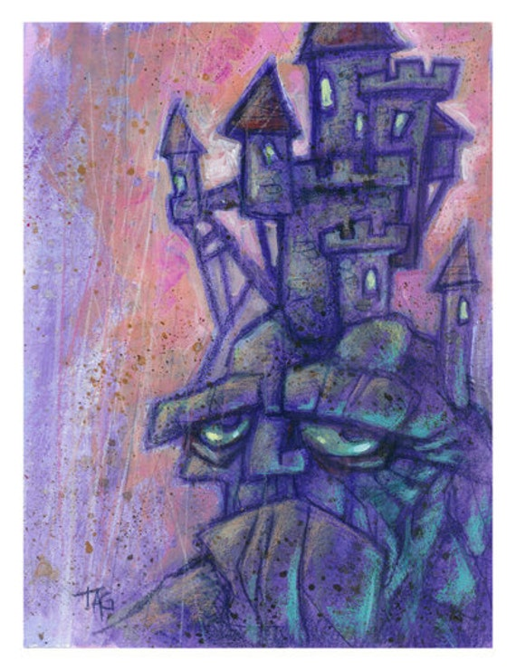 Original Castle Head Painting by Tom Taggart