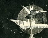 Moonlight Migration, gelatin monoprint