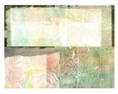 blank note card set of 4, original monoprints