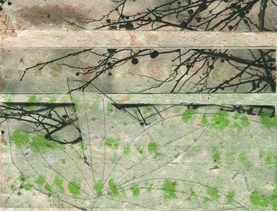 Spring Dreaming, print on handmade paper