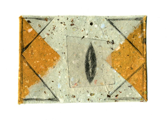 Postcard, handmade paper