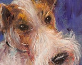 Fox terrier original painting