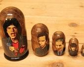 Rolling Stones Nesting doll matryoshka babushka dolls set of 5
