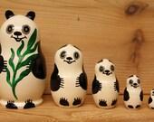 Panda Nesting Dolls Matryoshka dolls set of 5