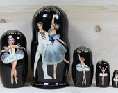Ballet  Swan Lake Nesting Dolls matryoshka doll set of 5 SALE