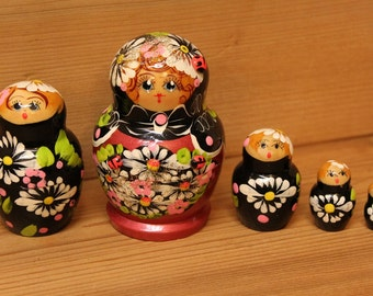 Sale Matryoshka Nesting Doll with ladybug russian stacking doll set of 5