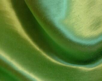 Green Hempsilk Fabric Organic Cotton Charmeuse Silk Satin Fat Quarter Extra