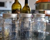 Farmhouse style Organizing ATLAS MASON storage jars for Kitchen, Bathroom, Office, ect.