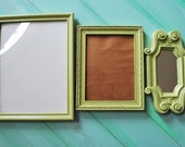 Pistachio Green Hanging Frame and Mirror For Urban Cottage Loft Decor