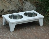 Raised Dog Bowl in White (Small)