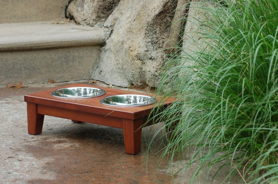 Raised Dog Bowl in Cherry (Small)