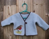 Felted Wool Baby Sweater