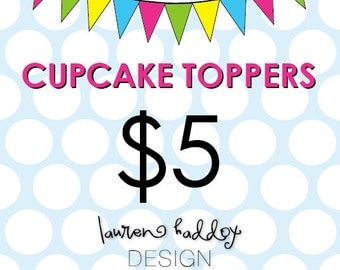 DIY, Cupcake Toppers, A LA CARTE
