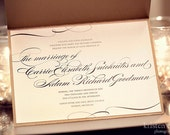 "Printable/DIY - ""Pride and Prejudice"" Calligraphy Wedding Invitation & RSVP Set"