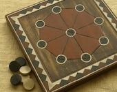 ANCIENT BOARD GAME - Woodwork - Art - Handmade - Decoration - Gift - Wedding gift - Christmas gift: Shisima (Kenya, Africa, Tiriki tribe)
