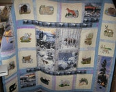 Embroidered Wildlife of northwest quilt  FREE SHIPPING