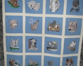 Clarkia Wolf Pack wall hanging      free shipping