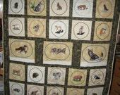 Predators a machine embroidered animal wallhanging