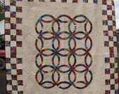 Beautiful Wedding ring quilt, the perfect gift  FREE SHIPPING