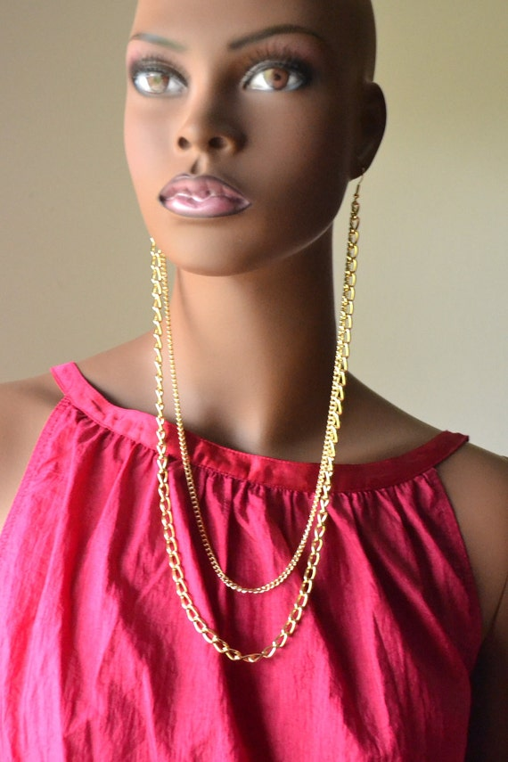 Gold Earlace Earrings
