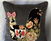 Floral Bird With Bow Cushion Cover