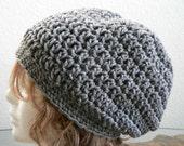 Grey Heather Slouchy Hat