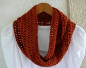 Paprika Crocheted Infinity Scarf