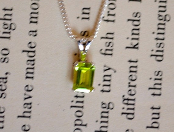 Peridot & SILVER Pendant With Matching Necklace, Lowest Price Ever Plus Free USA Shipping