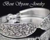 Silver Spoon Bracelet, Spoon Jewelry, Silver Bracelet, Silverware Jewelry, Silverware Bracelet, NARCISSUS 1935