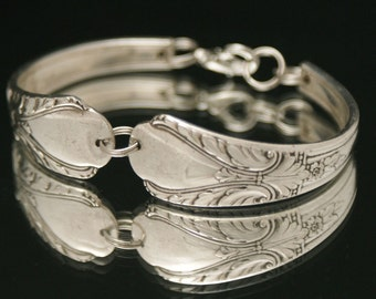 Vintage Antique Avalon 1940 upcycled Silverware Jewelry.. Bent Spoon Jewelry