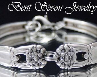 Spoon Bracelet SALE, Spoon Jewelry, Wedding, Bridesmaids Bracelet, Bridesmaids Gift - 1941 Eternally Yours