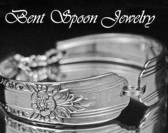 Spoon Bracelet - Vintage Silverware Jewelry, Spoon Jewelry - CELEBRITY  1939