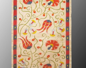 Bukhara Uzbek silk handmade embroidery   suzani