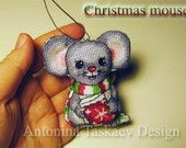 Reserved - Christmas mouse double sided toy - Cross stitch pattern