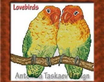 Lovebirds - Cross stitch pattern